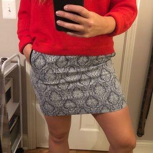 Harper Blue Floral Skirt